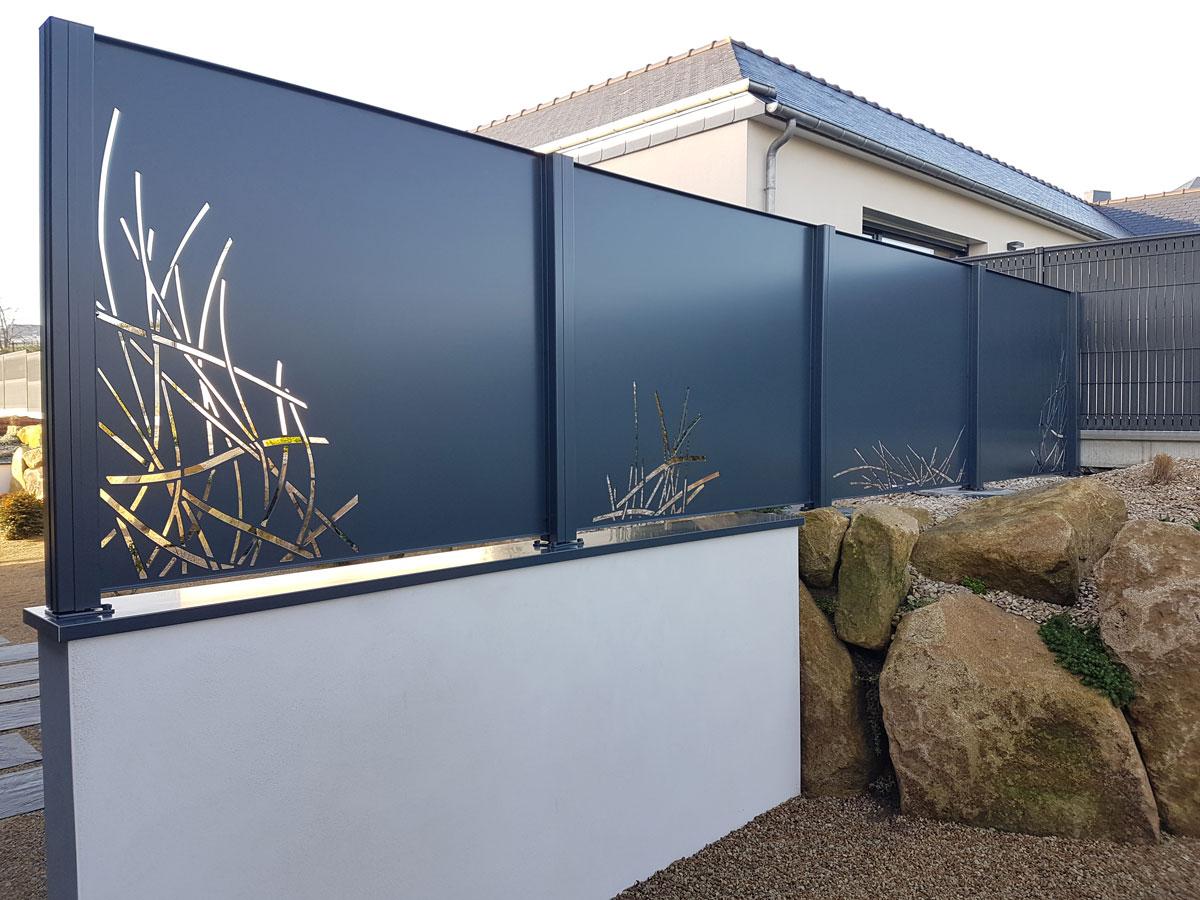 panneau brise vue aluminium gallery of panneau brise vue aluminium brise vue entre voisin with. Black Bedroom Furniture Sets. Home Design Ideas